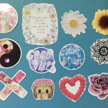 Flower child stickers / flower theme stickers / boho, indi stickers / laptop sticker / phone case sticker / hippie sticker / teen sticker