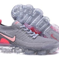 DC-CK N330 Nike Air Vapormax Flyknit 2 Casual Running Shoes Grey Pink
