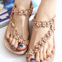 New Style Sweet Bohemian Beaded Sandals Shoes from styleonline