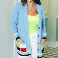 The new hot - selling color knit medium - length cardigan sweater