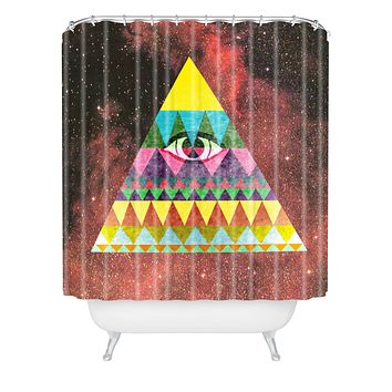 Nick Nelson Pyramid In Space Shower Curtain