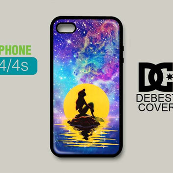Little Mermaid With Nebula Galyan iPhone Cases
