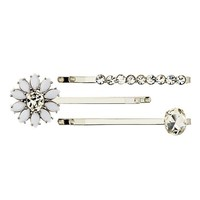 Pave Charmed Bobby Pin Set