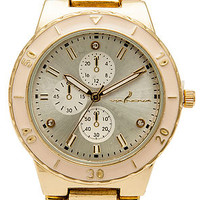 MKL Accessories Watch Gemma in Gold and Pink