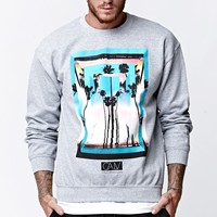California Love High Crew Neck Sweatshirt - Mens Hoodie - Grey