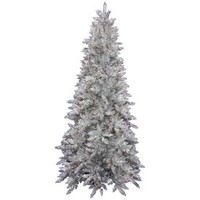 Shop Vickerman 9-ft Pre-Lit Spruce Artificial Christmas Tree with 900-Count White Incandescent Lights at Lowes.com