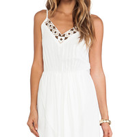 Bobi BLACK Mini Dress in White