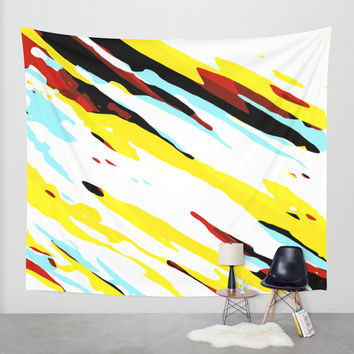 Trippy Panda 8 Wall Tapestry by HappyMelvin Graphicus
