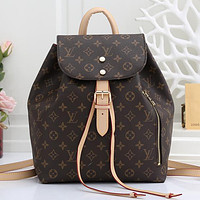 Louis Vuitton LV Fashion Leather Backpack Rucksack