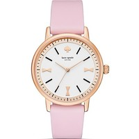 kate spade new yorkGlossy White Dial Crosby Watch, 34mm