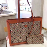 GUCCI x DISNEY Simple Retro Women Shopping Bag Mother Two-Piece Set