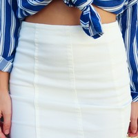 Make The Upgrade Skirt: White