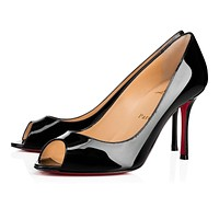 Christian Louboutin Cl Yootish Black Patent Leather 16w Pumps 3160715bk01 -