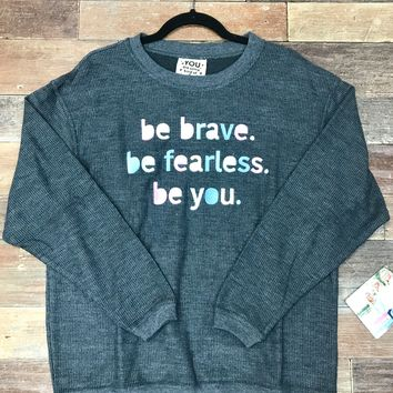 Jadelynn Brooke: Be Brave Corded Fleece {Charcoal}