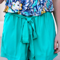 Beach Bum Shorts - Jade