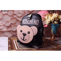 MOSCHINO HOT STYLE TEDDY CANVAS CAPSULE BACKPACK BAG