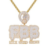 Hip Hop Being Broke Dripping Money Dollar Bag Pendant