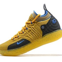 Mens Kevin Durant KD 11 Yellow/Black Basketball Shoes