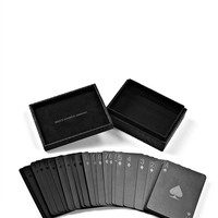 Black Playing Cards With Snakeskin Embossed Case - Alexander Wang