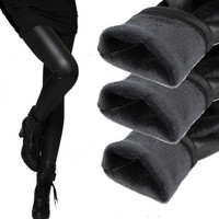 Plus thick velvet warm pants leather leggings pants big yards = 1932812356