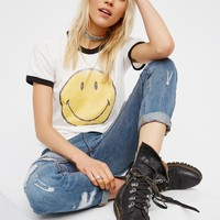 Free People Smiley Ringer Tee