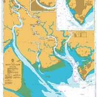 British Admiralty Nautical Chart 1016: Song Sai Gon
