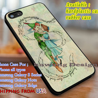 Never Say Goodbye Peter Pan Wendy iPhone 6s 6 6s+ 6plus Cases Samsung Galaxy s5 s6 Edge+ NOTE 5 4 3 #cartoon #animated #disney #peterpan dl3