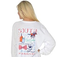 The South Long Sleeve Tee in White by Lauren James