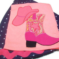 Girls Cowgirl Outfit, Size 3 Girls Clothes, Girls Fashion, Girls Skirt Set, Country Girl Clothes, Twirly Skirt and Cowgirl Boot Top