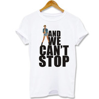 Funny shirt Screenprint T shirt we Can't stop miley cyrus  for T shirt mens, T shirt girl Size S, M, L, XL, XXL