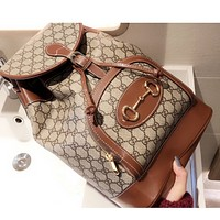 GUCCI  New fashion more letter leather backpack bag women