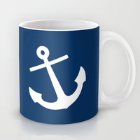 Navy Blue Anchor Mug by M Studio