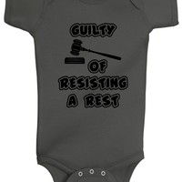 Guilty Of Resisting A Rest Bodysuits