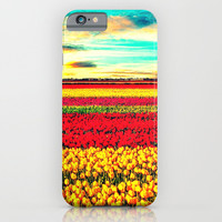 TULIPS - for iphone iPhone & iPod Case by Simone Morana Cyla