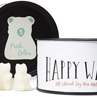 Happy Wax Fresh Cotton Scented, Soy Wax Melts - Bear Shapes Perfect for Mixing Melts in Your Warmer!