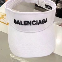 """Balenciaga"" Fashion Letter Visor Cap Women Summer Casual Sun Hat"