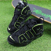 Tagre™ ONETOW Best Online Sale Nike Air More Uptempo QS Black / Fluorescent Green Basketball Shoes Sneaker