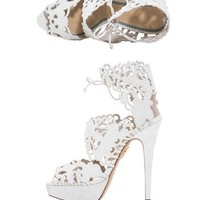 Belinda suede cut out sandals   Charlotte Olympia   MATCHESFAS...