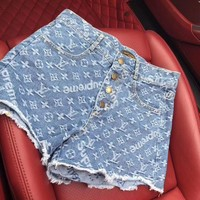 Louis Vuitton LV Supreme Denim Shorts