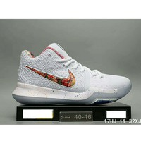 Tagre™ NIKE ID Kyrie 3 Irving 3 generation men and women trend shoes F-HAOXIE-ADXJ White