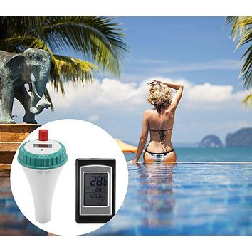 Wireless Remote Swimming Pool Floating Thermometer