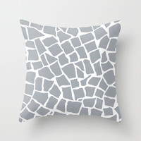 Mosaic Zoom Grey Throw Pillow by Project M
