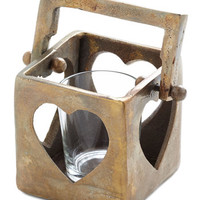 ModCloth Rustic Warms Your Heart Candle Holder