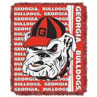 Georgia Bulldogs NCAA Triple Woven Jacquard Throw (Double Play Series) (48x60)