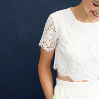 J.Crew Womens Collection Floral Lace