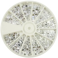 Nail Art MoYou Silver Moon Rhinestone Pack of 1200 Crystal Premium Quality Gemstones in 12 different shapes and sizes, beauty accessory for women nails, fun and easy to apply with top coat or nail glue:Amazon:Beauty
