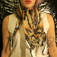 Cleo Ferin Mercury Long Padded Animal Scarfs