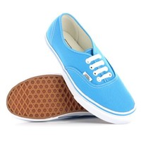 Vans Authentic Blue White Womens Trainers Size 9.5 US