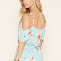 Floral Open-Shoulder Romper | Forever 21 - 2000170444