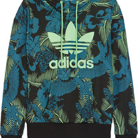 adidas Originals - Printed cotton-blend jersey hooded top